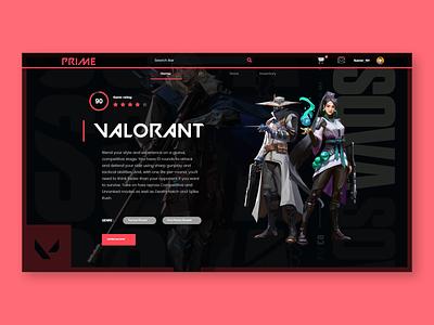 Valorant Landing Page Concept dailyui valorant ui design adobe xd ux ui