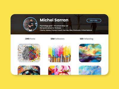 User Profile Screen Design userprofilescreen design ui dailyui