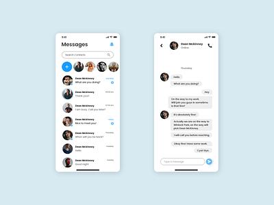 Direct Messaging App Screen ux design ui design adobe xd ui dailyui