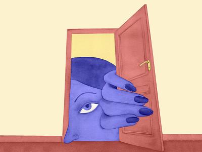 Peckaboo laura angelucci color magic doors book illustration digital illustrazione illustration