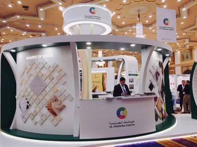 Al Jazeera Paints Exhibition Stand Design interiordesign exhibition stand design