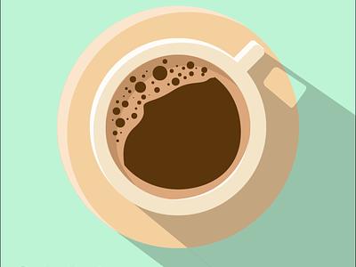 Coffee cup mood shadow colors colour illustration illustrator coffee