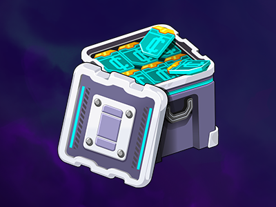Loot currency crate loot sci-fi space uiux ui mobile illustration game gameart