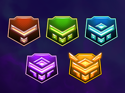 Ranking badges ranking sci-fi space background uiux ui mobile illustration game gameart