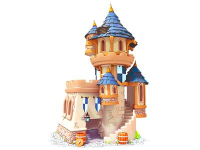 Castle environment art render maya 3d 3d art painting gameart mobile game