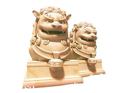 Lion Guardians 3dartist maya 3d gameart mobile illustration game