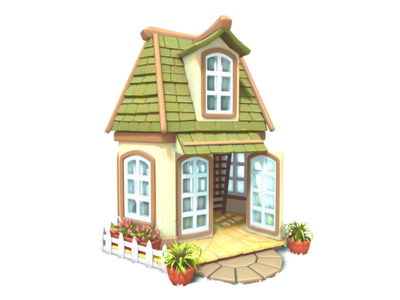 guesthouse illustration house 3d gameart mobile game