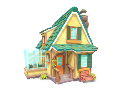 house model house painting 3d gameart mobile illustration game