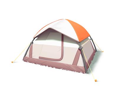 tent 3d tent model mobile gameart illustration game
