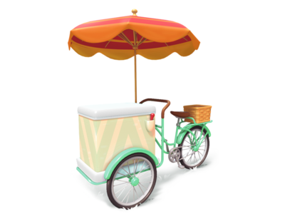 bicycle bicycle model mobile 3d gameart illustration game