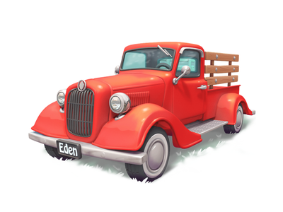 truck truck model 3d gameart mobile illustration game