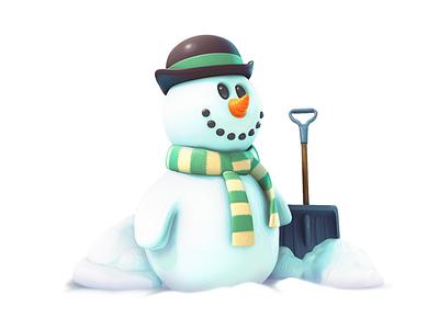 snowman maya model snowman 3d gameart mobile illustration game