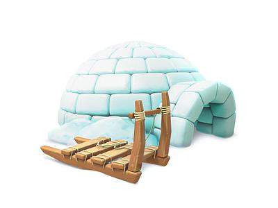 igloo igloo model maya 3d gameart mobile illustration game