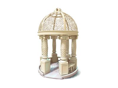 gazebo 3d maya model gameart mobile illustration game