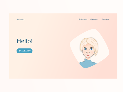 First concept of portfolio website design ui vectors portrait avatar illustration frontend website portfolio