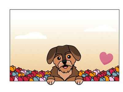 Valentine rough-haired dachshund illustration vector dachshund valentine dog