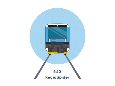 Icon of Czech train RegioSpider - Stadler RegioShuttle RS1 railroad rail diesel graphic vector train czech icon illustration