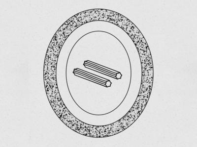 Churros, not chopsticks! vector design branding badge stamp mark icon logo illustration