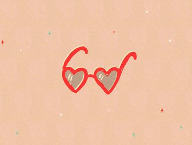 Heart glasses design branding badge illustration stamp icon mark logo