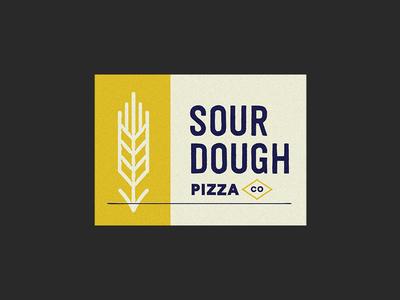 Sour Dough Pizza Co. mark stamp logo pizza