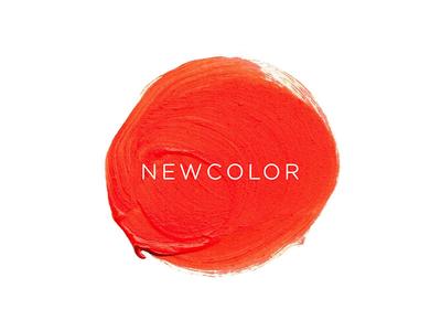 NEWCOLOR Logo splatter beauty nail polish paint logo