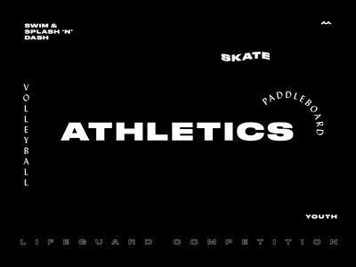 Athletics Hero Banner type layout athlete sports typography banner