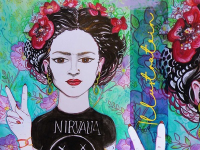 Frida Mixed Media Illustration