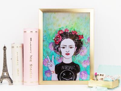 "Frida Painting ""Enlightened"""