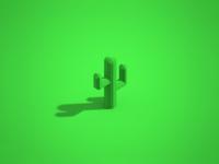 Cactus Voxel Art