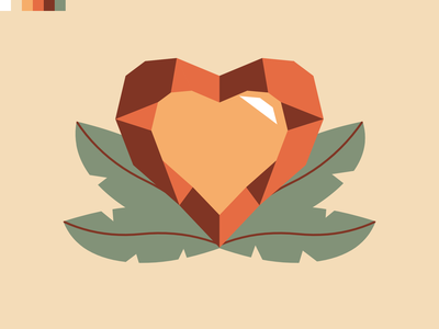 Heart Crystal design vector