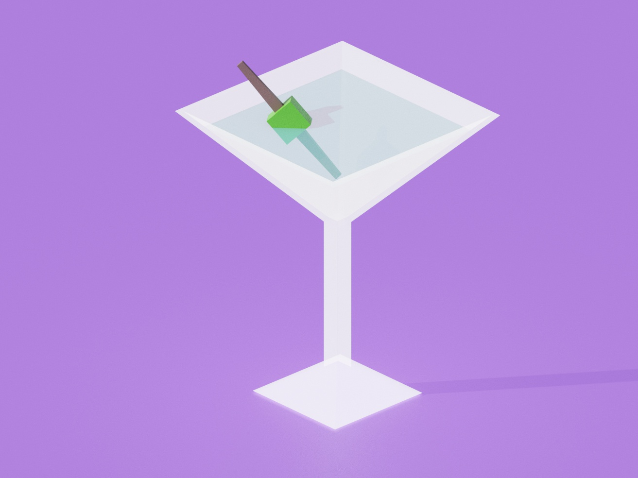 Martini poster retro purple alcohol cocktails cocktail martini simple design blender3d blender 3d art 3d