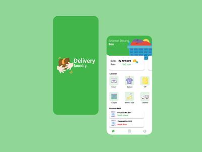 Laundry App branding ui mobile graphic design design figma app