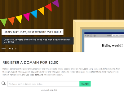 Happy Birthday to the First Website!