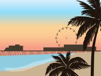 Window scene - Santa Monica