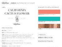 Fff candle spec sheet