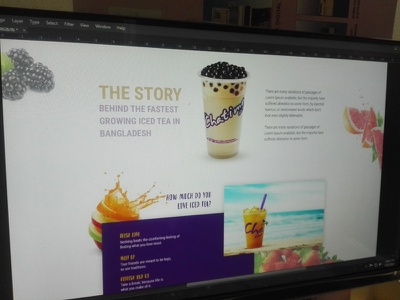 Chatime Web Tamplate Design ice delicious juicy cold chatime template ui ux webdesign