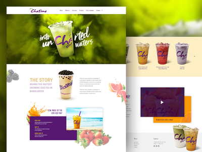 Chatime corporate product design web uiux chatime
