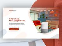 Google Home Header Concept