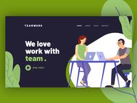 Teamwork Header Section