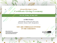 Certificate Giving Ceremony Design