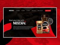 Nescafe Header Design