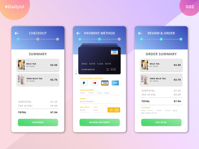 Daily UI Challenge #002 | Credit Card Checkout Form ui sketch dailyuichallenge dailyui 002 dailyui app