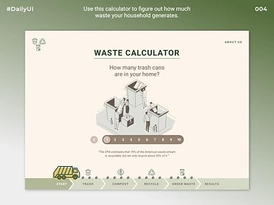 Daily UI Challenge #004 | Waste Calculator sketch ui uidesign daily ui004 dailyuichallenge dailyui
