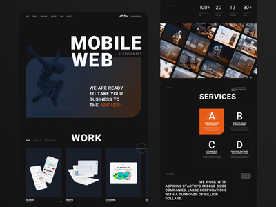 Redesign of the main page website typography ux ui uiux web design webdesign web