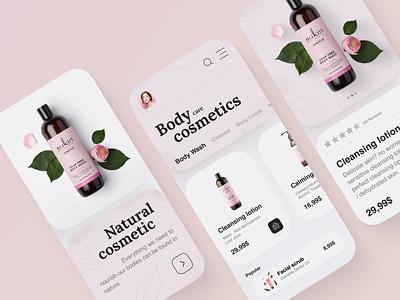 Natural cosmetic - mobile app. app design ux web design webdesign flowers colorful mobile app design ui cosmetic uiux cosmetic mobile cosmetic mobile app mobile