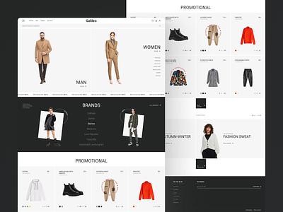 Online store design online store online shop typography web design web ui ux website webdesign magazine store
