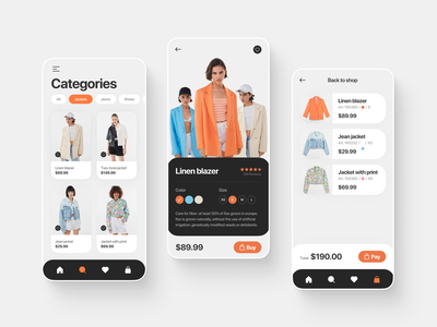 Clothing Store App shoes app colorful store app clothing app clothing company clothing design ux web web design webdesign app design uiux ui mobile app mobiledesign