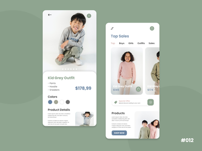 E-commerce Shop - Kids Cloth #DailyUI cloth shop ecommerce design ecommerce shop ecommerce kids clothing cloth shop card dailyuichallenge dailyui ux ui minimal graphic design flat design app