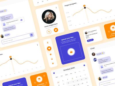 Project planner app UI Components minimal webdesign love color soft labels smartwebtech uxdesign ux ui ui component ui cards mobile app clean ui planner icon app upload uiux component