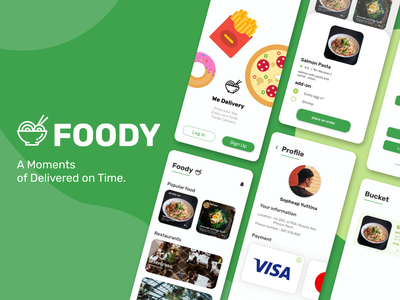 FOODY delivery app food app food and drink food delivery food app application figma adobe xd ui design